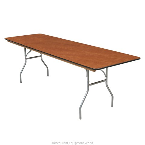 PS Furniture BQ3696 Folding Table, Rectangle