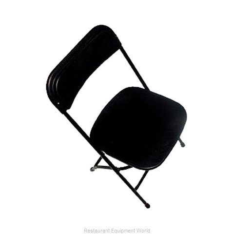 PS Furniture C600BLK/BL Chair, Folding, Outdoor