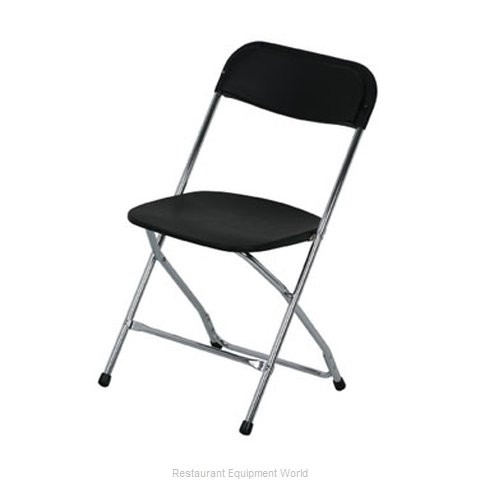 PS Furniture C600BLK/CH Chair Folding Outdoor