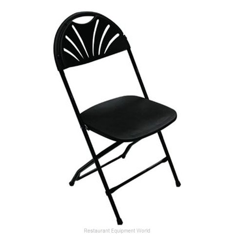 PS Furniture C650BLK/BL Chair Folding Outdoor