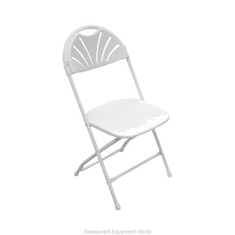 PS Furniture C650WWH/WW Chair, Folding, Outdoor
