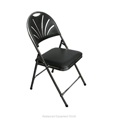 PS Furniture C700BLK/CH Chair Folding Outdoor