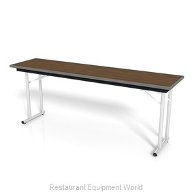 PS Furniture DS301872 Folding Table, Rectangle
