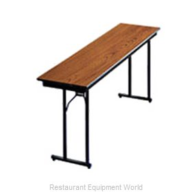 PS Furniture DS302472 Folding Table, Rectangle