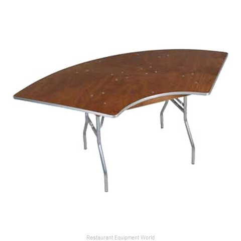 PS Furniture HO10X15 Folding Tables Crescent Serpentine