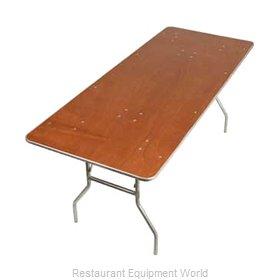 PS Furniture HO3672 Folding Table, Rectangle