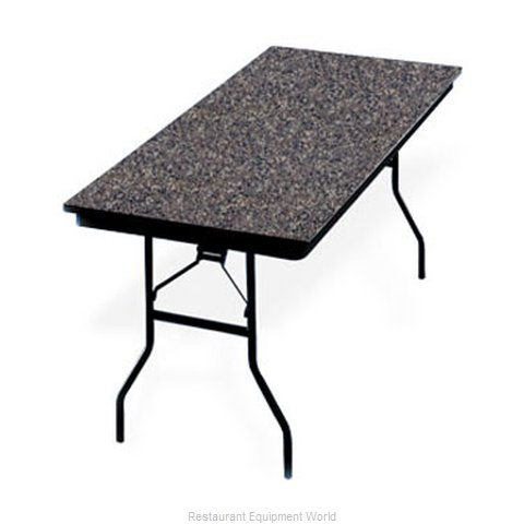 PS Furniture LS303072 Folding Table, Rectangle