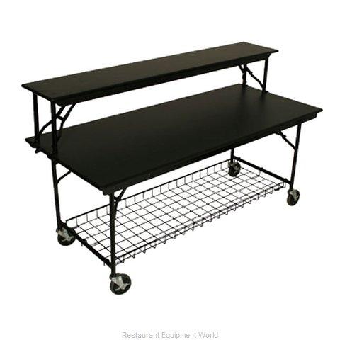 PS Furniture LS3072MXB-MB Folding Table, Rectangle