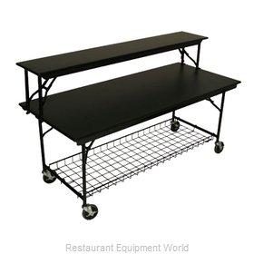 PS Furniture LS3096MXB-MB Folding Table, Rectangle