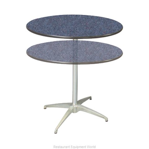 PS Furniture LSADJ30RD Table, Indoor, Adjustable Height