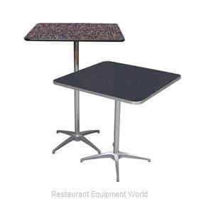 PS Furniture LSADJ3636 Table, Indoor, Adjustable Height