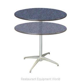 PS Furniture LSADJ36RD Table, Indoor, Adjustable Height