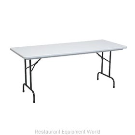 PS Furniture PT1872-PL Folding Table, Rectangle
