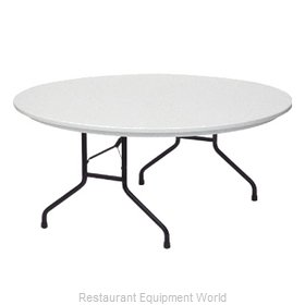 PS Furniture PT60DI-PL Folding Table, Round