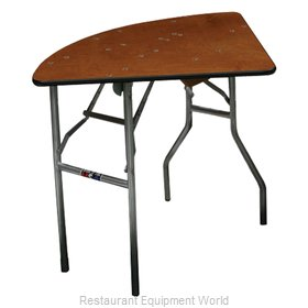 PS Furniture QT60 Folding Table, Round