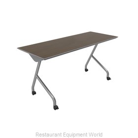 PS Furniture REV2460MXE-Y Folding Table, Rectangle