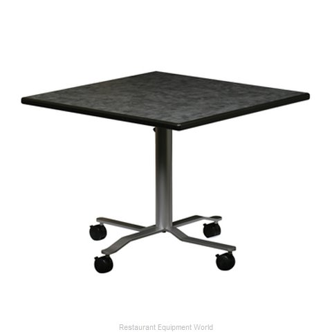 PS Furniture REV3030SQMX-RDC3 Folding Table Square (Magnified)