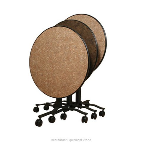 PS Furniture REV36RDMX-RBC3 Folding Table Round (Magnified)