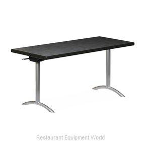 PS Furniture REVFT2460MXE-ASC Folding Table, Rectangle