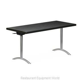 PS Furniture REVFT3096MXE-ASC Folding Table, Rectangle