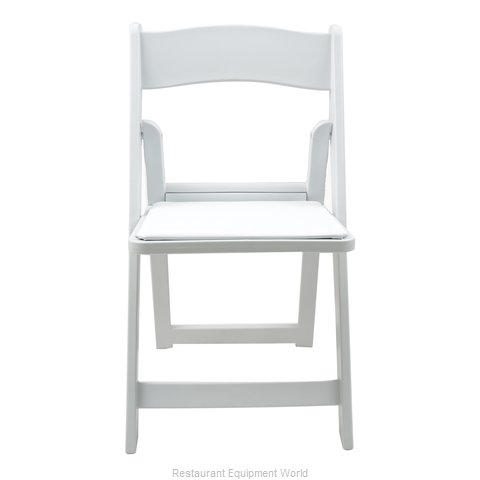 PS Furniture RS400WH Chair, Folding, Outdoor