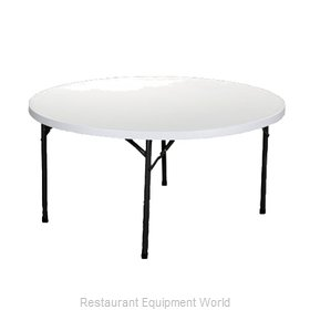 PS Furniture RS60RDWH-GR Folding Table, Round