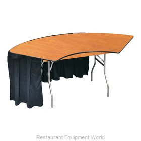 PS Furniture SP7X12 Folding Table, Serpentine/Crescent