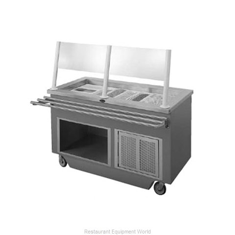Randell 14GFG SCA-6 Serving Counter Cold Pan Salad Buffet