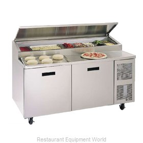 Randell 8268N Refrigerated Counter, Pizza Prep Table