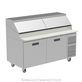 Randell 8268W Refrigerated Counter, Pizza Prep Table