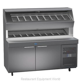 Randell 8272D-290 Refrigerated Counter, Pizza Prep Table