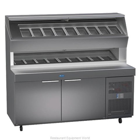 Randell 8272D Refrigerated Counter, Pizza Prep Table