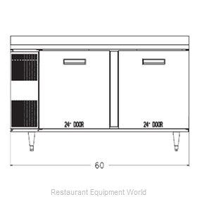 Randell 9205F-290 Freezer Counter, Work Top