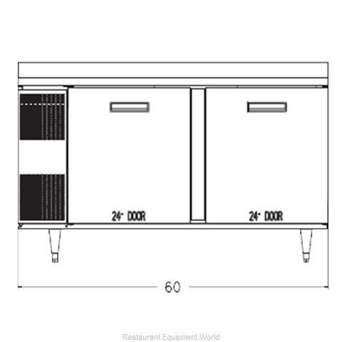 Randell 9205F-32-7 Freezer Counter Work Top (Magnified)