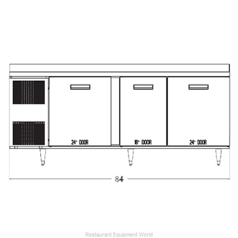 Randell 9225-32-7 Refrigerated Counter Work Top