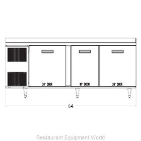 Randell 9225-32-7 Refrigerated Counter, Work Top
