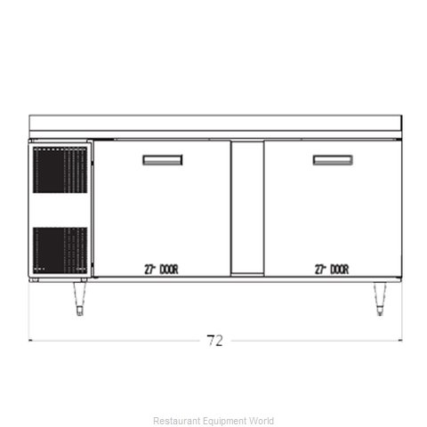 Randell 9235-32-7 Refrigerated Counter Work Top