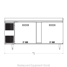 Randell 9235-32-7 Refrigerated Counter, Work Top
