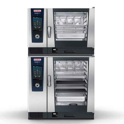 Rational ICP 6-FULL/10-FULL E 208/240V 3 PH Combi Oven, Electric