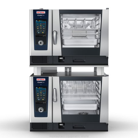 Rational ICP 6-FULL/6-FULL NG 208/240V 1 PH Combi Oven, Gas