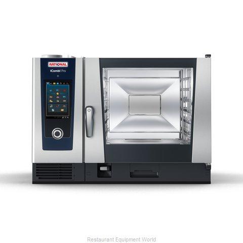 Rational ICP 6-FULL LP 208/240V 1 PH QS Combi Oven, Gas