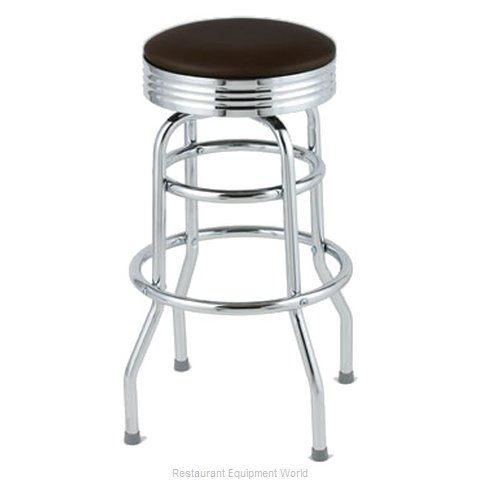 Royal Industries ROY 7710-2 BRN Bar Stool Swivel Indoor (Magnified)