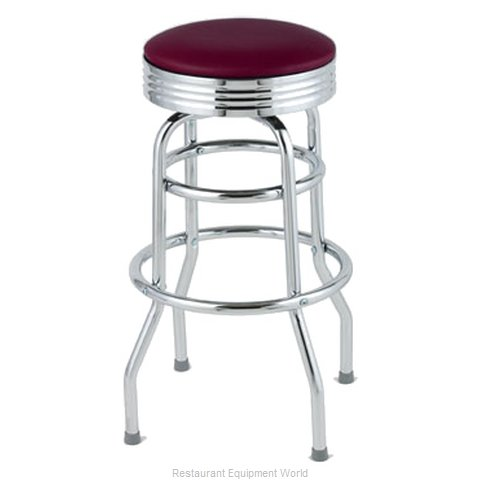 Royal Industries ROY 7710-2 CRM Bar Stool Swivel Indoor (Magnified)