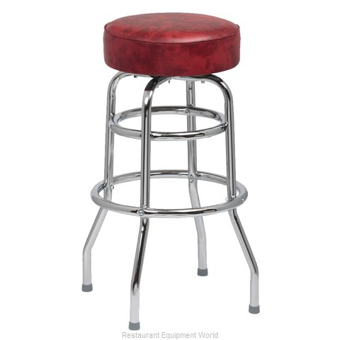 Royal Industries ROY 7712 CRM Bar Stool, Swivel, Indoor (Magnified)