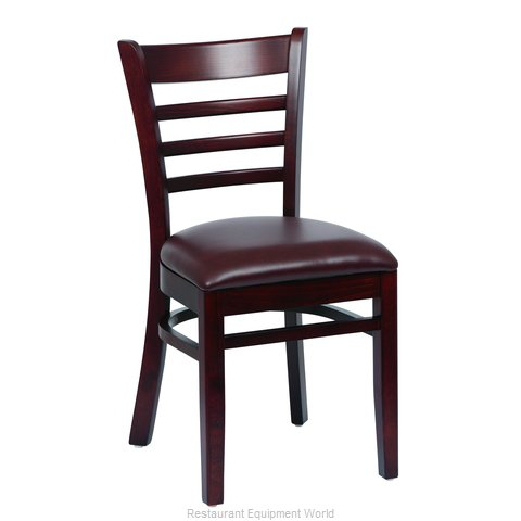 Royal Industries ROY 8001 W BRN Chair Side Indoor (Magnified)