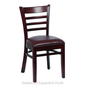 Royal Industries ROY 8001 W BRN Chair, Side, Indoor