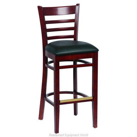 Royal Industries ROY 8002 W BLK Bar Stool, Indoor