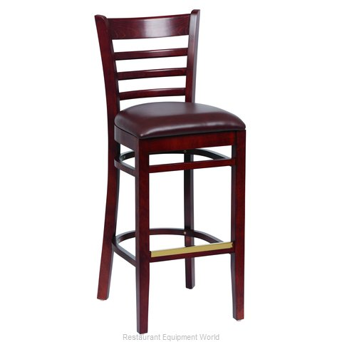 Royal Industries ROY 8002 W BRN Bar Stool Indoor