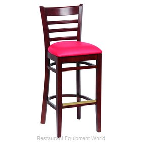 Royal Industries ROY 8002 W RED Bar Stool, Indoor