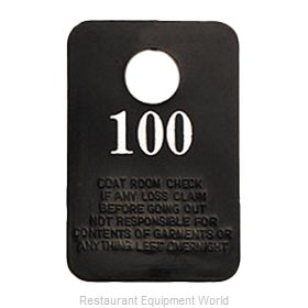 Royal Industries ROY CRC 1-100 Coat Check Tag